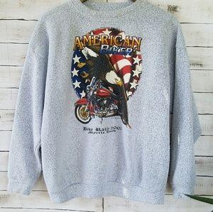 🏍Vintage Biker Pullover
